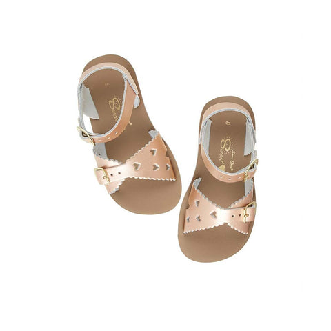 Salt-Water Sun-San Kids Sandals - Sweetheart - Rose Gold-Sandals- Natural Baby Shower
