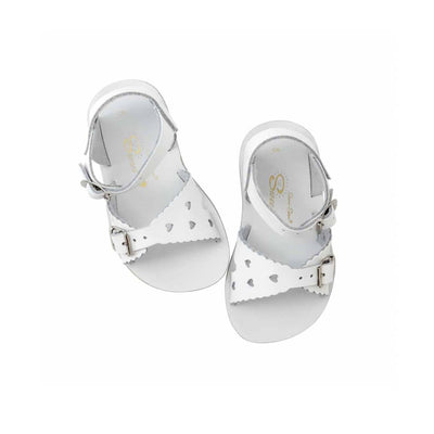 Salt-Water Sun-San Kids Sandals - Sweetheart - White-Sandals- Natural Baby Shower