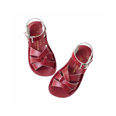 Salt-Water Sun-San Kids Sandals - Swimmer - Red-Sandals- Natural Baby Shower