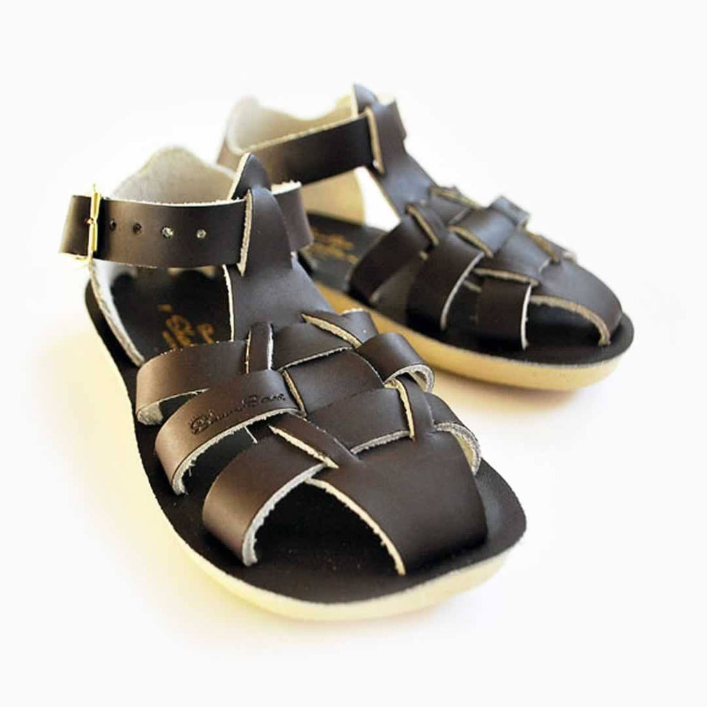 Sun-San Saltwater Shark Sandals Brown