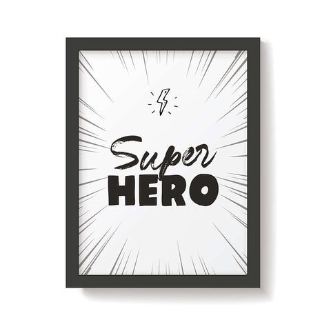 Snuz Superhero Nursery Print - Monochrome-Nursery Accessories- Natural Baby Shower