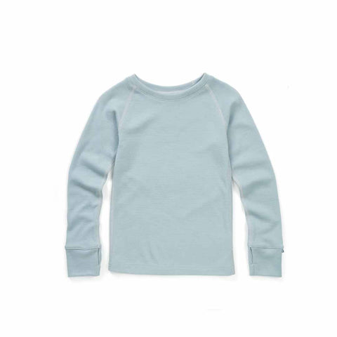 Superlove Merino Kids Top - Cloud Grey-Long Sleeves- Natural Baby Shower