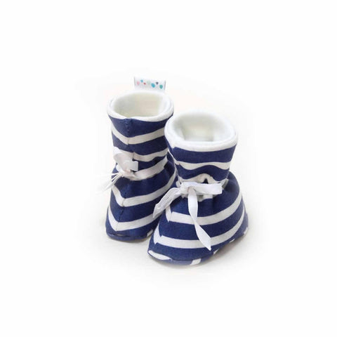 Superlove Cotton & Merino Booties in Baby Breton