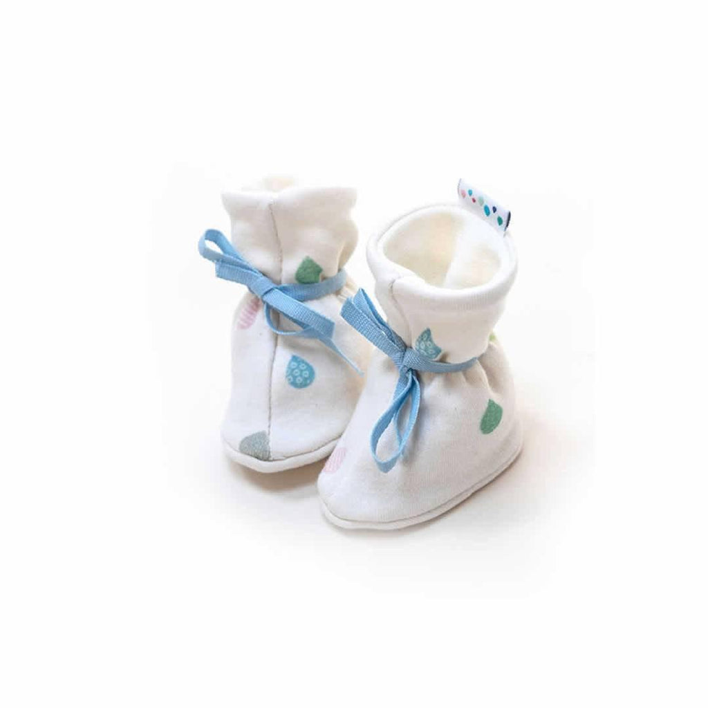 Superlove Cotton & Merino Booties in Rainbow Drops