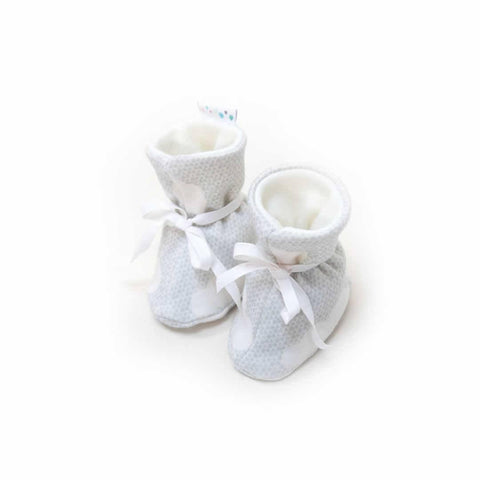 Superlove Cotton & Merino Booties in Silver Linings