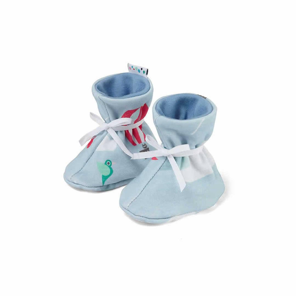 Superlove Cotton & Merino Booties in Up & Away