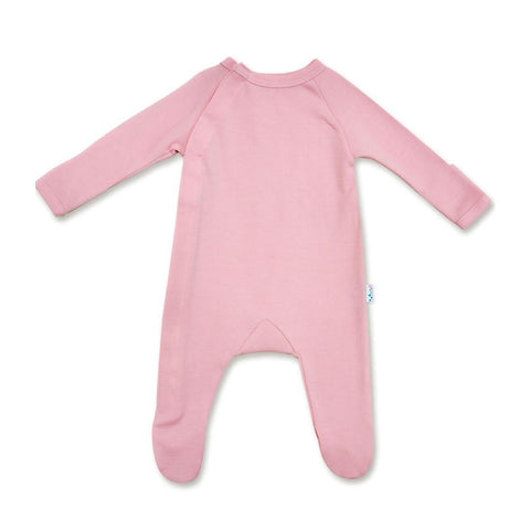Superlove Merino Baby Sleepsuit - Blush Pink - Babygrows & Sleepsuits - Natural Baby Shower