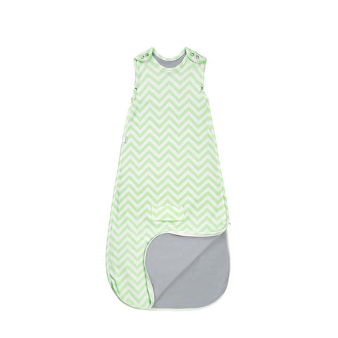 Superlove Merino & Organic Cotton Sleep Bag in Mint Chevron