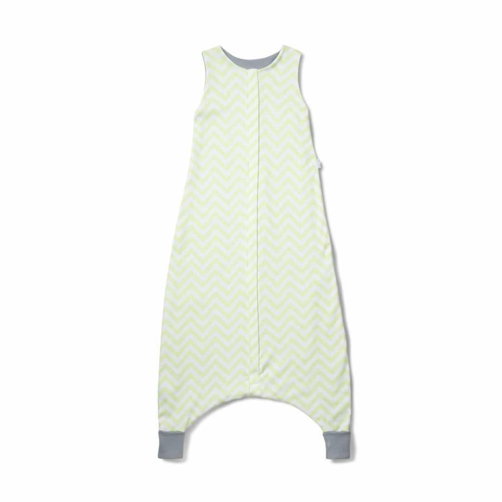 Superlove Organic Cotton & Merino Toddler Sleeping Bag in Mint Chevron