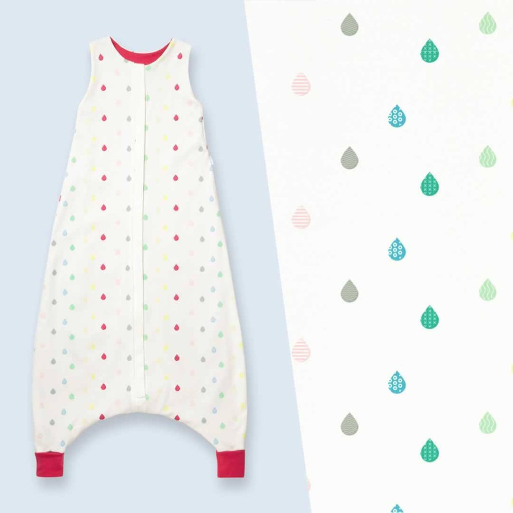 Superlove Organic Cotton & Merino Toddler Sleeping Bag Rainbow Drops