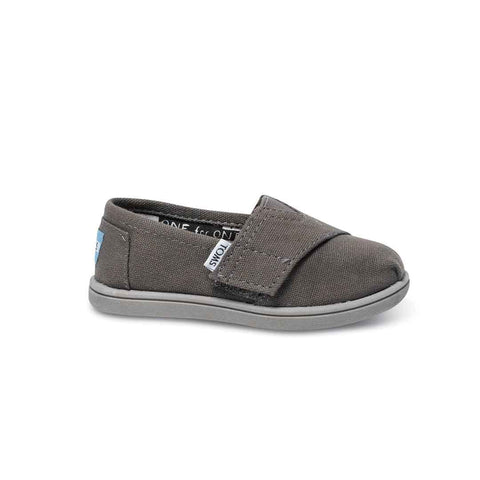 TOMS Classic Canvas Shoes - Grey-Shoes- Natural Baby Shower