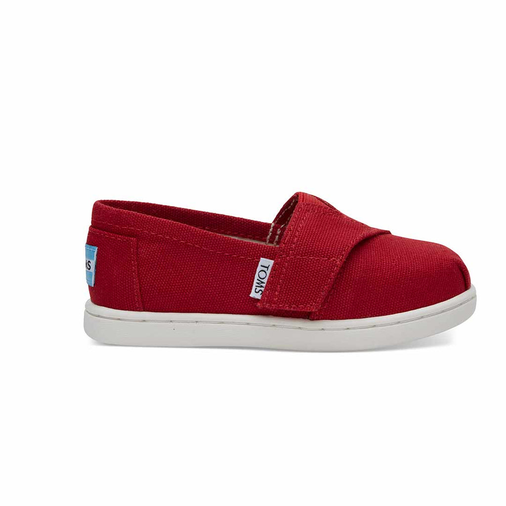 TOMS Classic Canvas Shoes - Red-Shoes- Natural Baby Shower