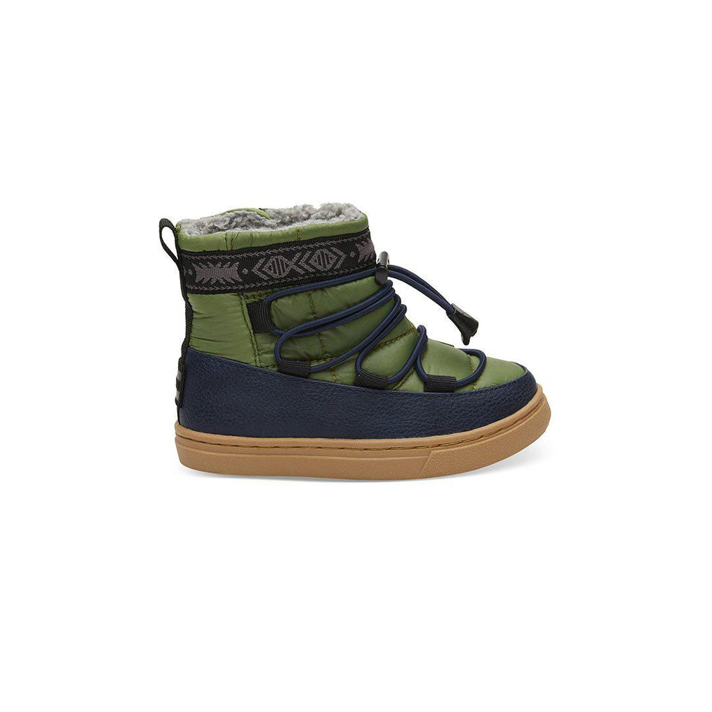 TOMS Alpine Shoes - Medium Green-Boots- Natural Baby Shower