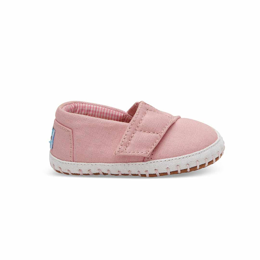 TOMS Crib Alpargata Shoes - Pink-Soft Soles- Natural Baby Shower