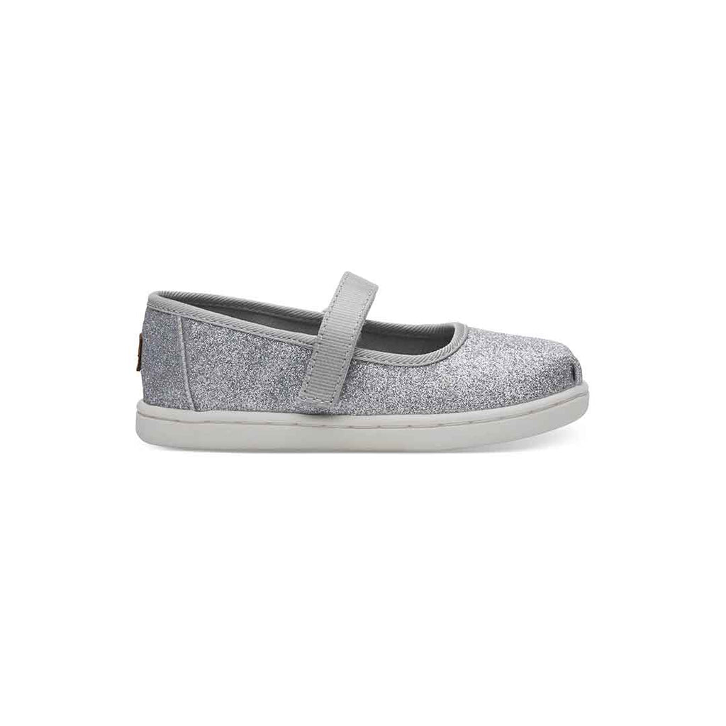 Silver Glimmer Tiny TOMS Mary Janes | TOMS®