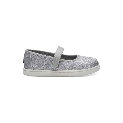 TOMS Mary Jane Shoes - Silver