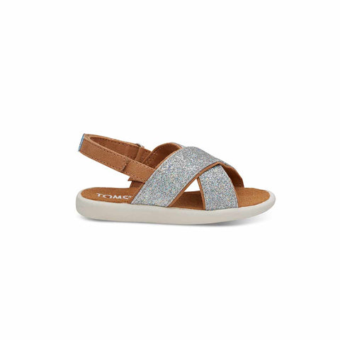 TOMS Viv Sandals - Silver-Sandals- Natural Baby Shower