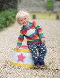 Frugi Bobby Applique Top - Rainbow/Cloud Lifestyle