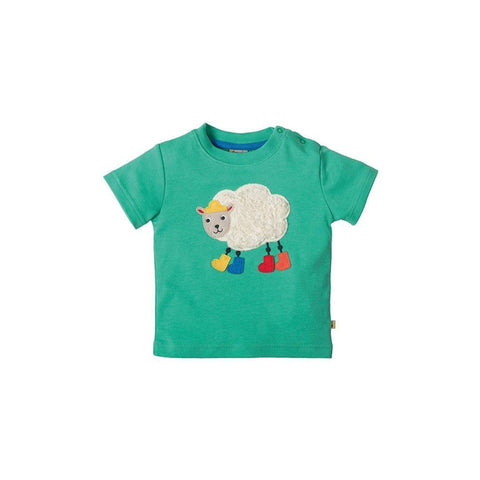Frugi Little Creature Applique T-shirt - Jungle/Sheep