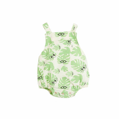 The Bonnie Mob Bahama Bubble Romper - Leaf-Rompers- Natural Baby Shower