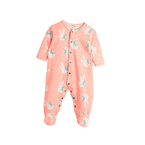 The Bonnie Mob Bailey Playsuit - Neon Bunny-Rompers- Natural Baby Shower