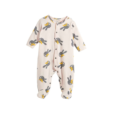 The Bonnie Mob Bailey Playsuit - Sand Bunny-Rompers- Natural Baby Shower