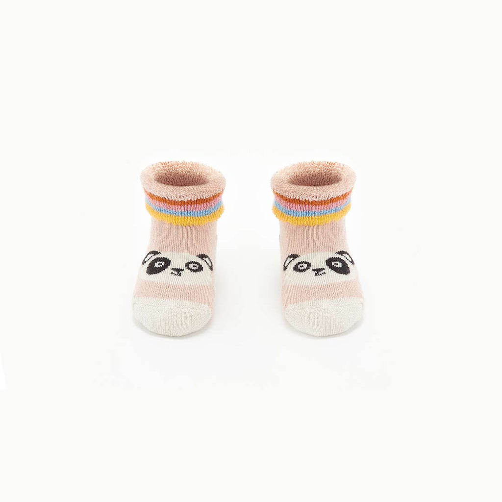 The Bonnie Mob Bennie Panda Baby Bootie Socks - Pink-Socks- Natural Baby Shower
