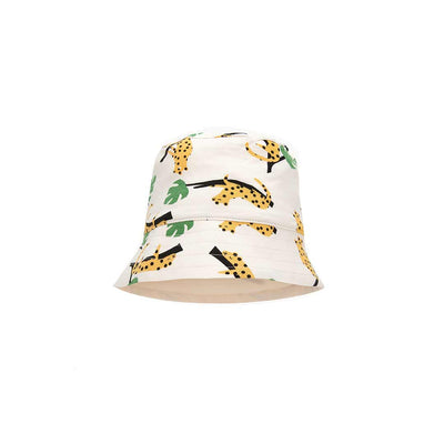 The Bonnie Mob Bigsur Sunhat - Mustard Leopard-Hats- Natural Baby Shower