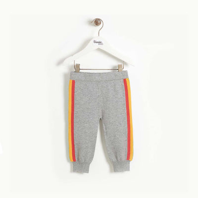 The Bonnie Mob Blues Side Stripe Knit Trouser - Grey-Pants- Natural Baby Shower