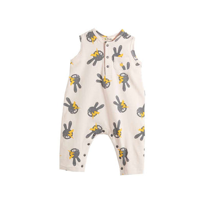 The Bonnie Mob Brady Playsuit - Sand Bunny-Rompers- Natural Baby Shower