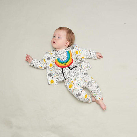 The Bonnie Mob Brooklyn Leggings - Rainbow Print-Leggings- Natural Baby Shower