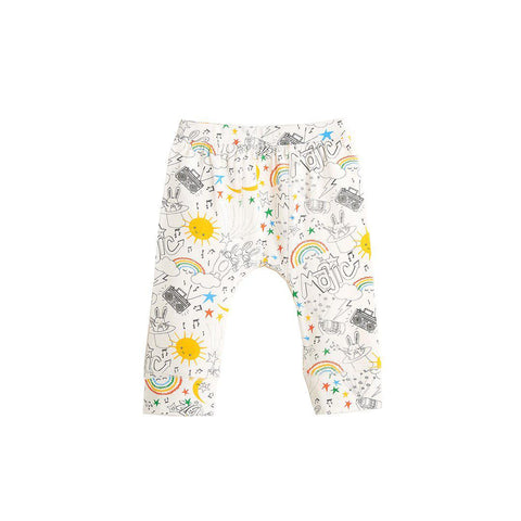 The Bonnie Mob Brooklyn Leggings - Rainbow Print-Leggings-12-18m-Rainbow Print- Natural Baby Shower