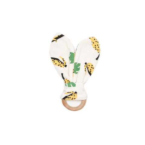 The Bonnie Mob Copacabana Teething Ring - Mustard Leopard-Teethers- Natural Baby Shower