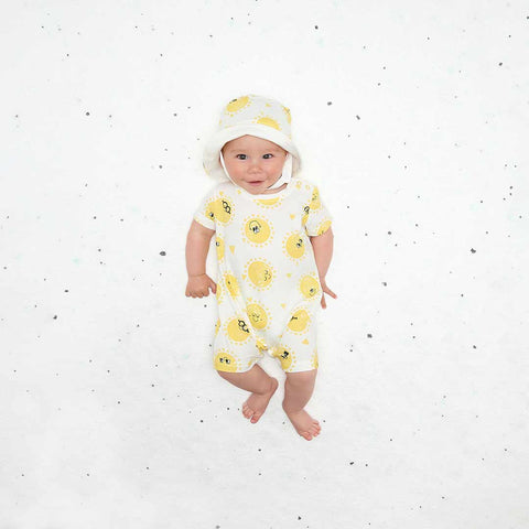 The Bonnie Mob Damien Playsuit - Sunshine-Rompers- Natural Baby Shower