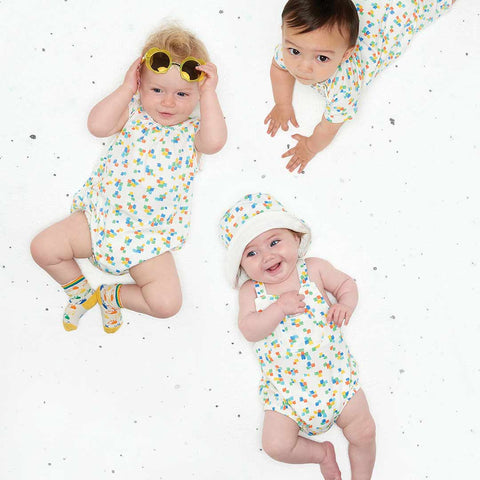 The Bonnie Mob Dawe Romper - Multicolour-Rompers- Natural Baby Shower