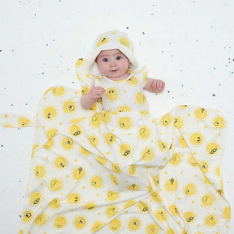 The Bonnie Mob Day Blanket - Sunshine-Blankets- Natural Baby Shower