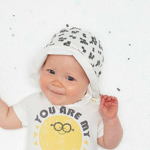 The Bonnie Mob Dixon Sunhat - Monochrome-Hats- Natural Baby Shower