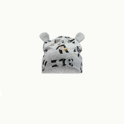 The Bonnie Mob Panda Baby Beanie Hat - Grey-Hats-0-6m-Grey- Natural Baby Shower