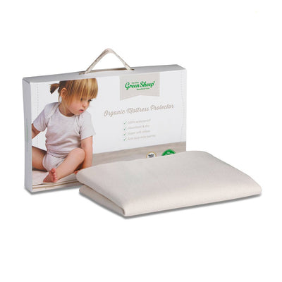 The Little Green Sheep - Large Crib Natural Mattress Protector - 83x50cm-Mattress Protectors-Default- Natural Baby Shower