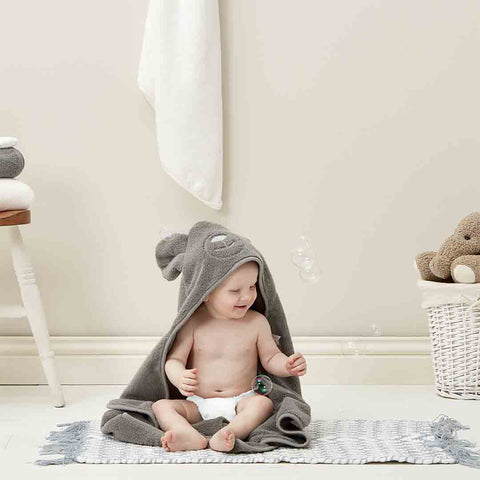 The Little Green Sheep Organic Baby Hooded Towel - Bear 4