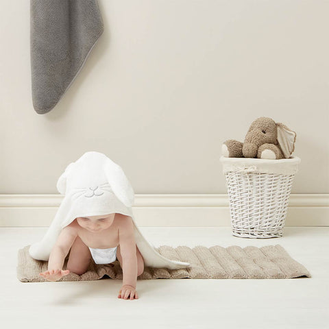 The Little Green Sheep Organic Baby Hooded Towel - Bunny 4