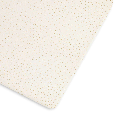 The Little Green Sheep Organic Cot & Cot Bed Fitted Sheet - Linen Rice-Sheets- Natural Baby Shower