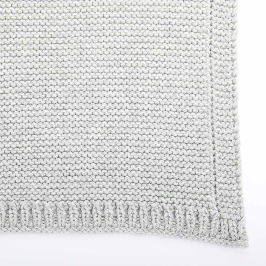The Little Green Sheep Organic Knitted Cellular Baby Blanket - Dove-Blankets- Natural Baby Shower