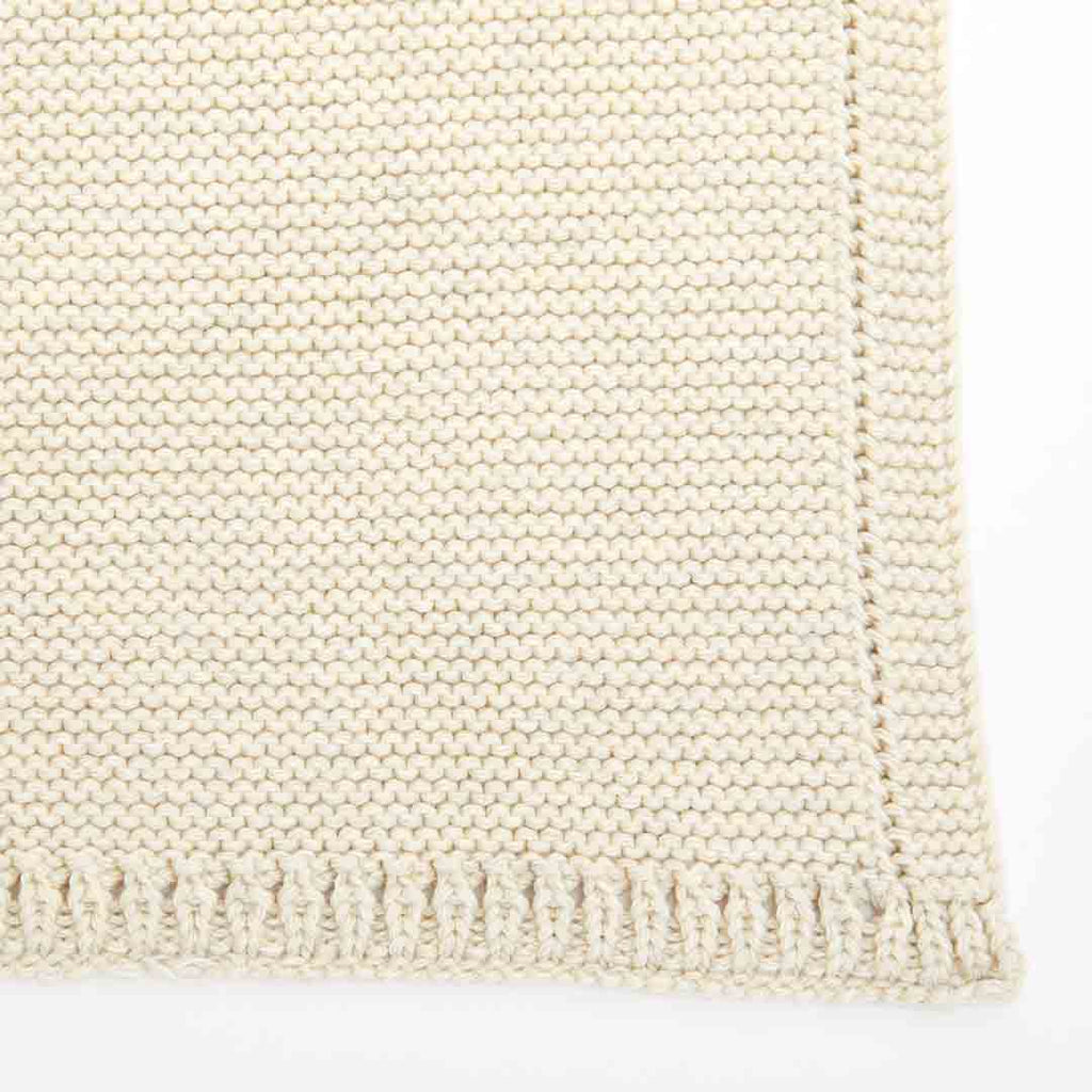 The Little Green Sheep Organic Knitted Cellular Baby Blanket - Linen-Blankets- Natural Baby Shower