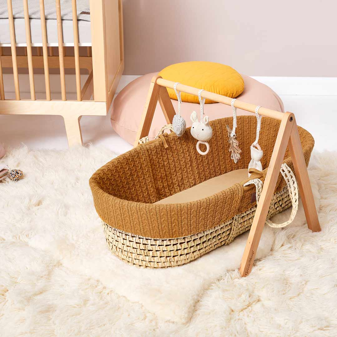 The Little Green Sheep Organic Knitted Moses Basket ...