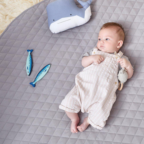The Little Green Sheep Play Mat - Grey-Play Mats- Natural Baby Shower