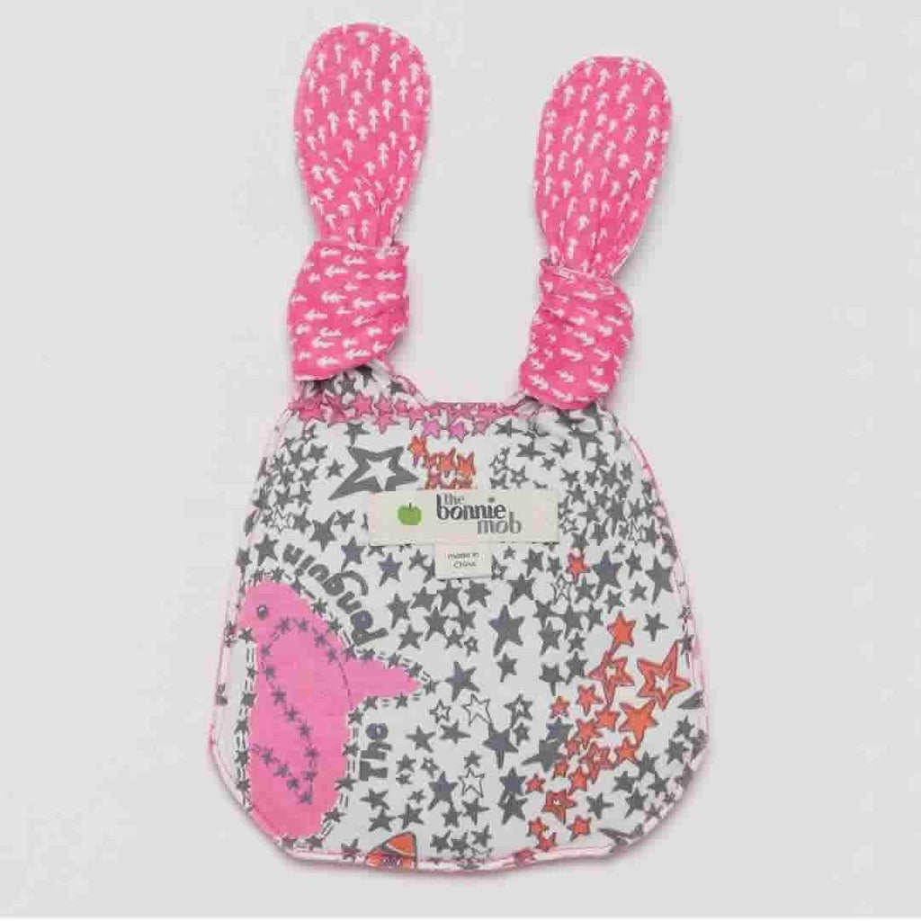 The Bonnie Mob - Beanz Bunny Toy - Pinks Night Sky Back
