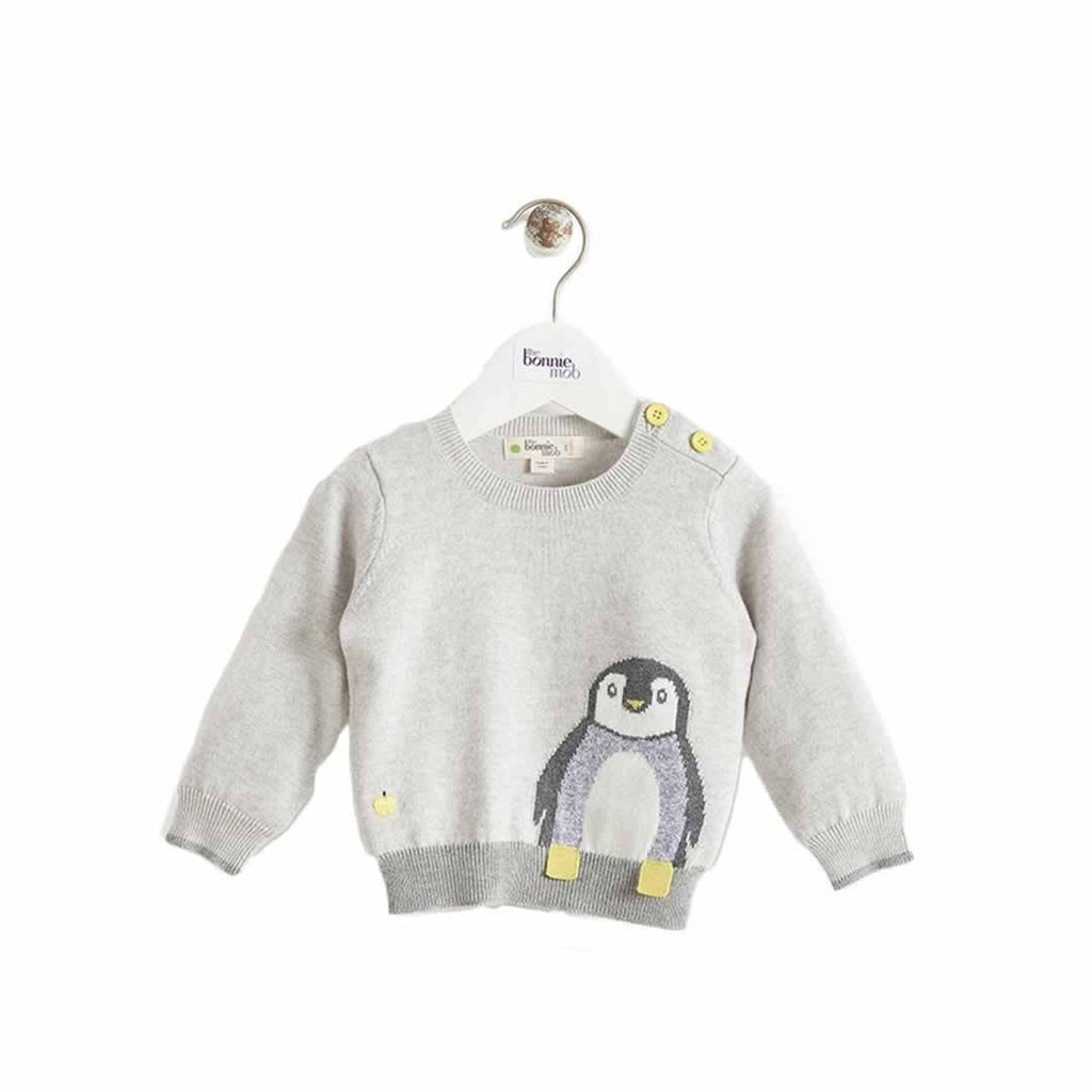 The Bonnie Mob - Dopple Intarsia Sweater Kids Greys