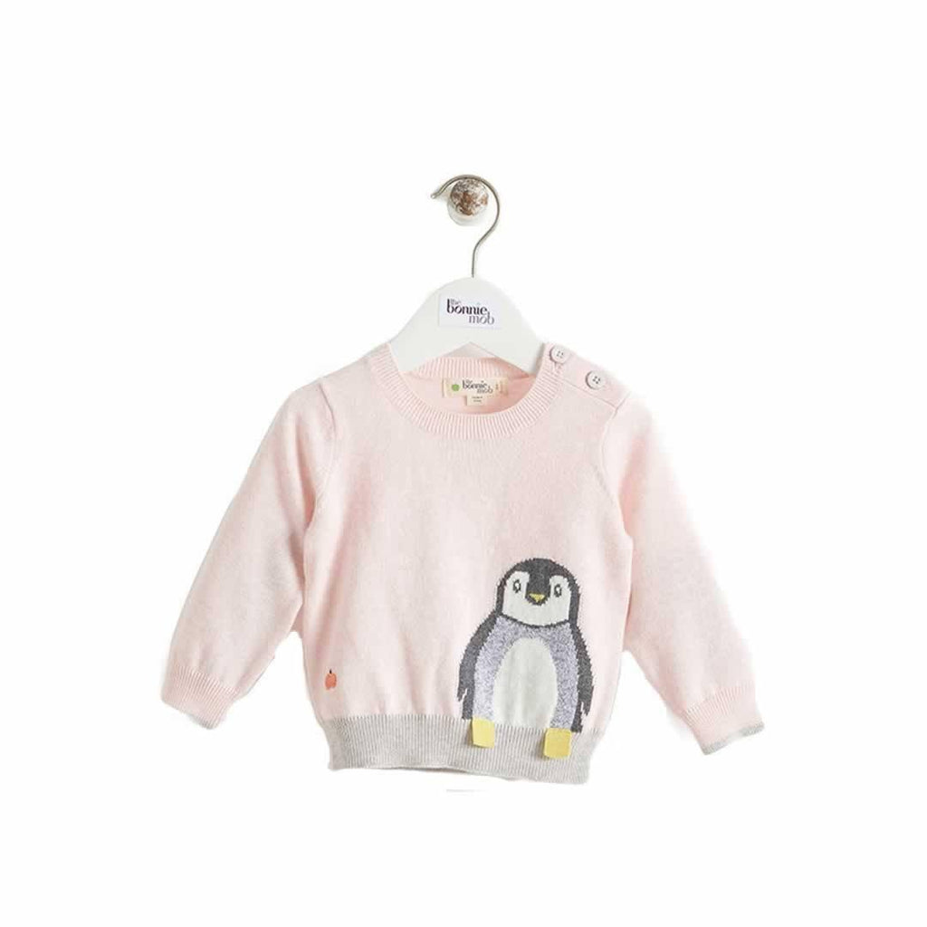 The Bonnie Mob - Dopple Intarsia Sweater Pale Pinks