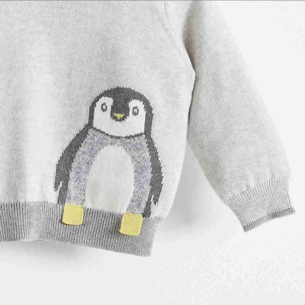The Bonnie Mob Dopple Intarsia Sweater Kids - Greys
